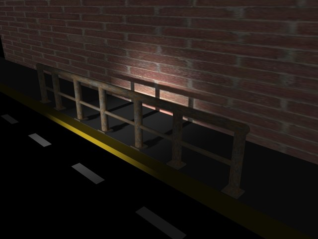 free railing metal 3d model