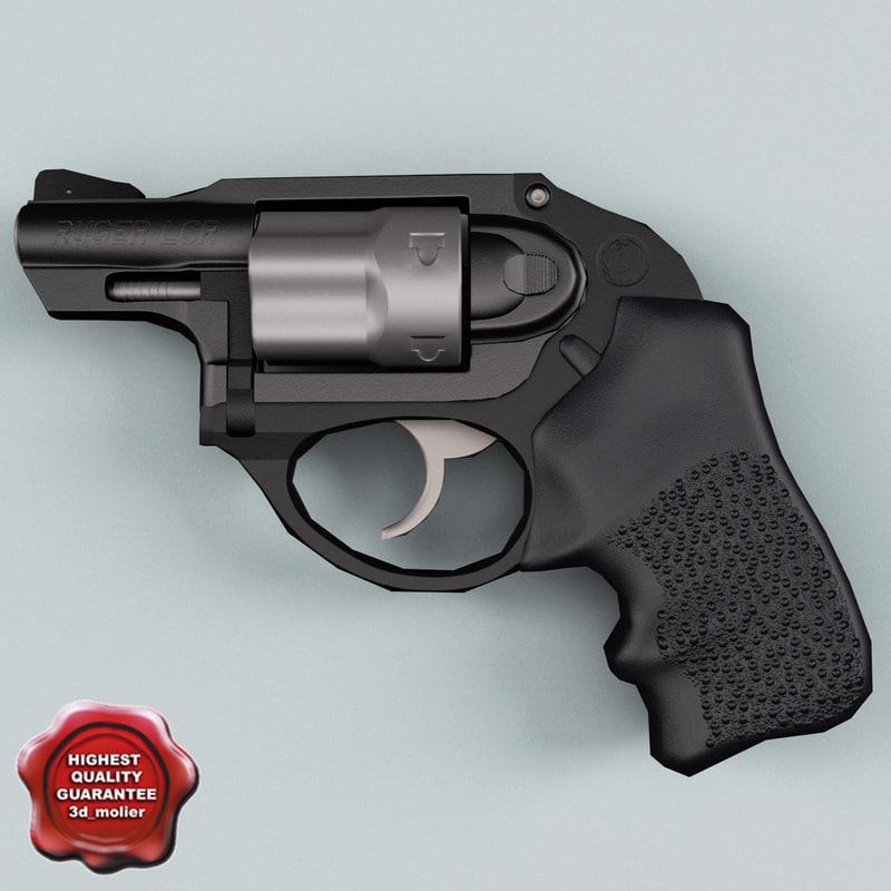 3d revolver ruger lcr model