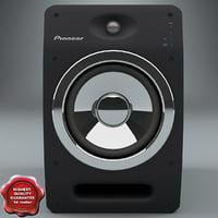 speaker systems pioneer s-dj08 3d max