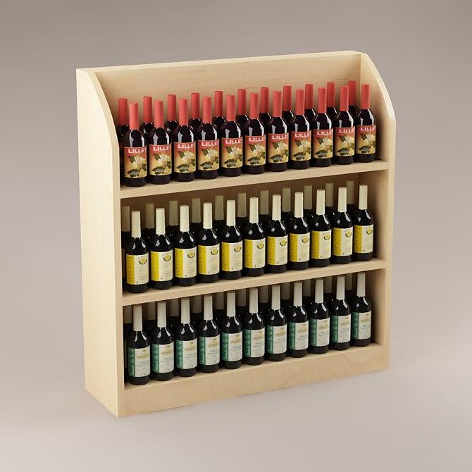 3d bottles shelf model