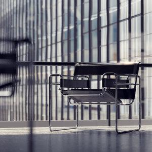 3dsmax marcel breuer wassily chair