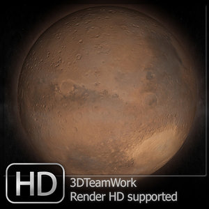 3dsmax planet mars hd suported
