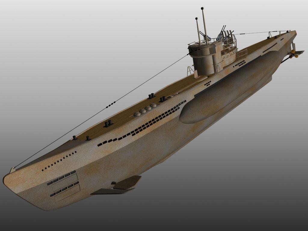 3d model u-boat submarine