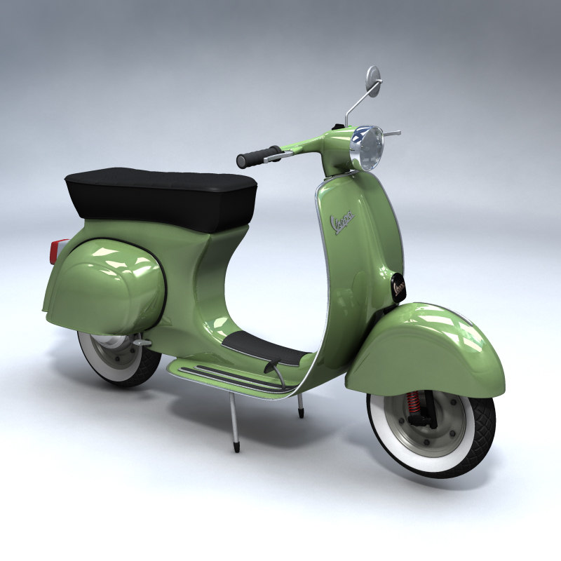 Turbo Scooter Rental Ibiza: 3ds Max Vespa Scooter Vintage