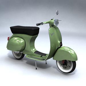 3ds max vespa scooter vintage
