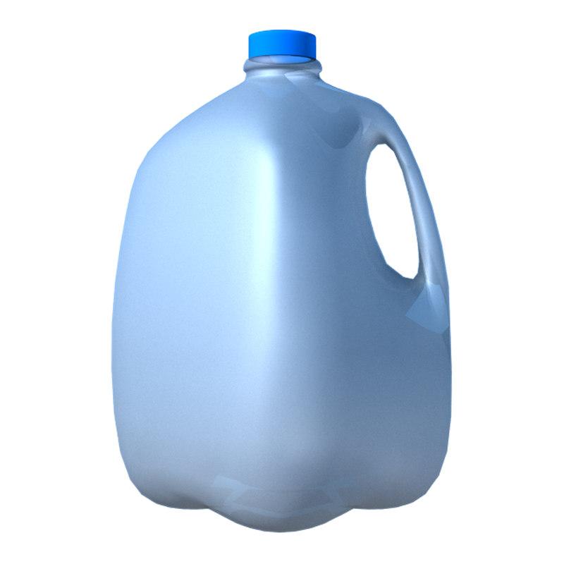 gallon water jug 3d model