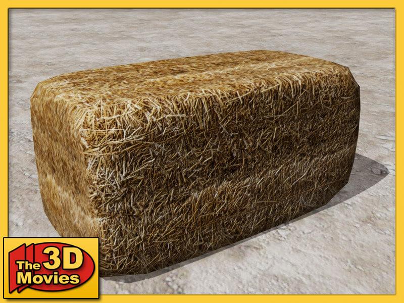 bale straw 3d model