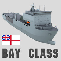 BAY CLASS SHIP 3D Model, Royal Navy