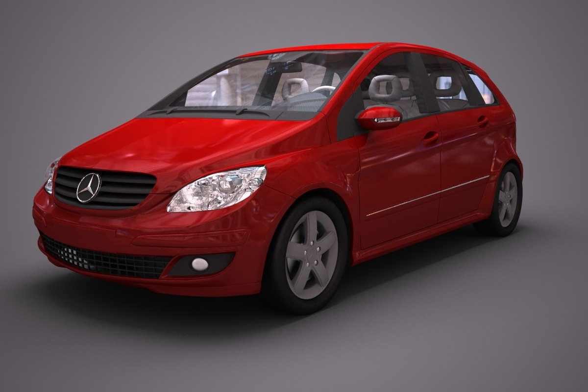 mercedes benz b car 3d 3ds
