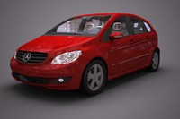 mercedes benz b car 3d 3ds