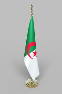 3d flag algeria model
