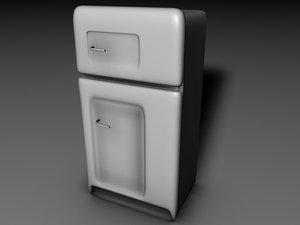 free fridge 3d model