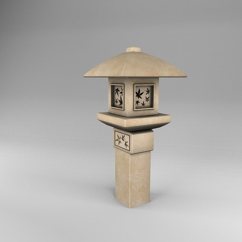 3d model lantern ikekomi gata