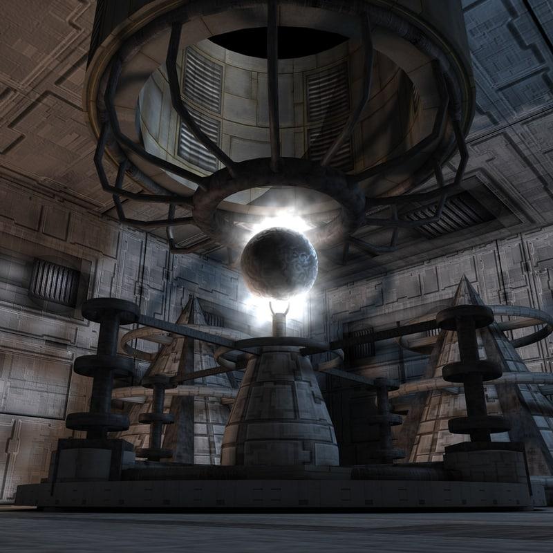 c4d reactor environment futuristic
