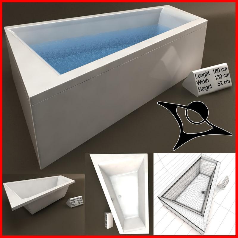 3d model of bath