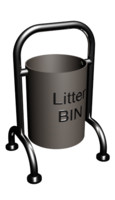 3ds max outdoor litter bin