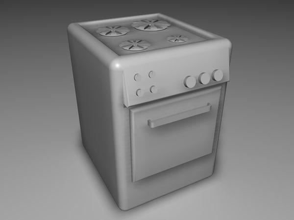 free oven 3d model