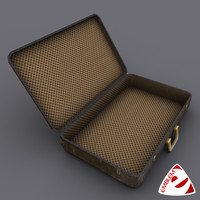 luggage suitcase realtime 3d max
