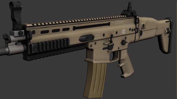 3ds max scar l assault rifle