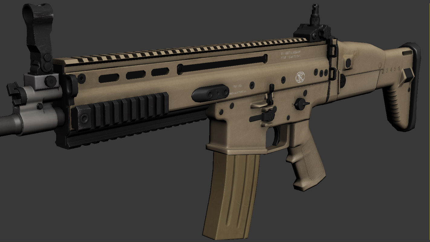 3ds max scar l assault rifle