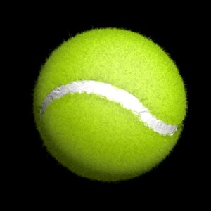 fuzz tennis ball realistic 3d model