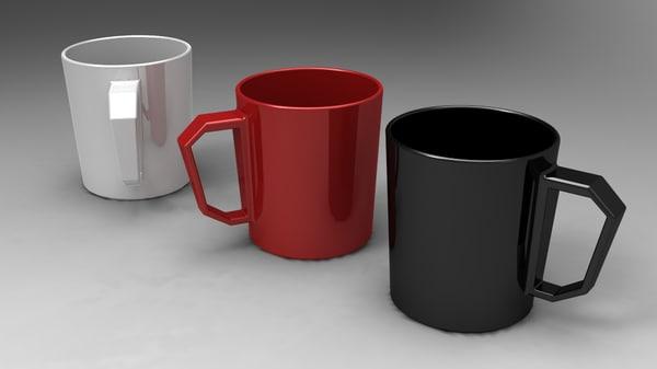 cup mug 3d x