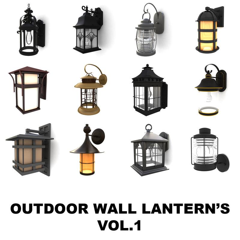 max outdoor wall lantern vol