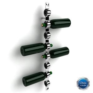3d wine rack