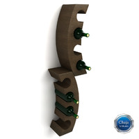 wine rack 3d 3ds