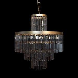 3d model chandelier details