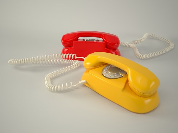 3d old phone model