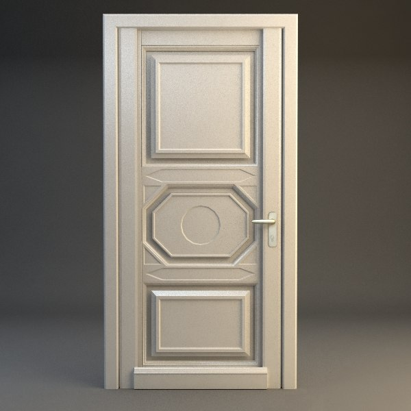 3ds max door wood wooden