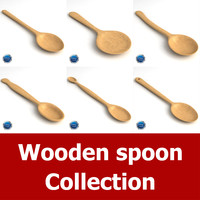 3d model of wooden spoon