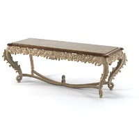 Jumbo classic wood carved console table baroque