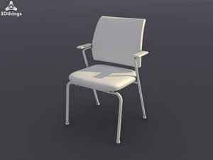3d model conference chair netwin 4-leg