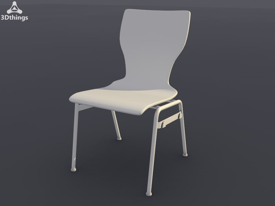 3d model of conference chair stage 4-leg