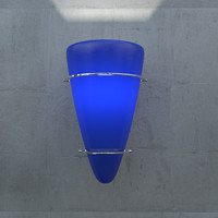 blue 007 sconce light 3d 3ds
