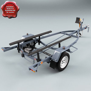 personal water craft trailer 3d 3ds