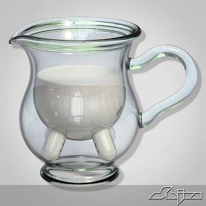 3d model calf half milk carafe