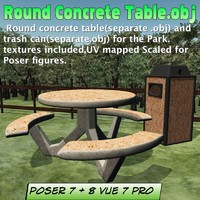 3d concrete table model