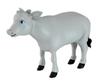 cow calf 3d obj