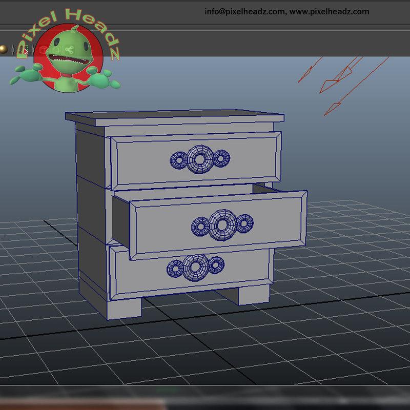 3d model bedroom draws