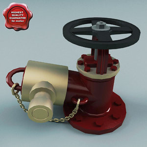 3d model hydrant modelled