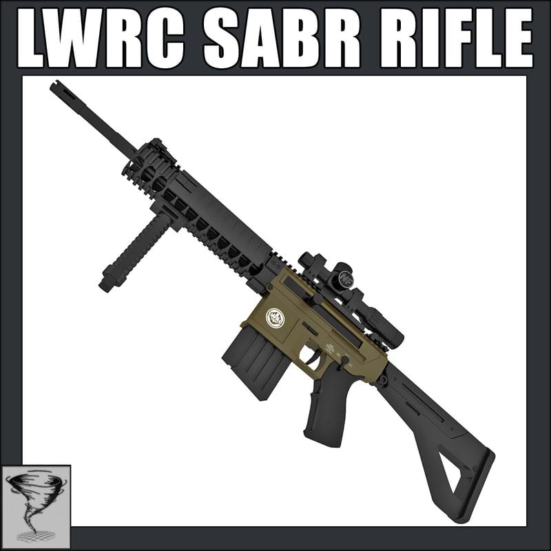 lwrc sabr rifle 3d model