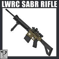 lwrc sabr rifle 3d model