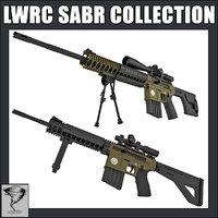 lwrc sabr rifles sniper 3d 3ds