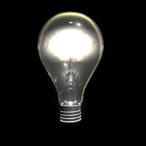 3d c4d light bulb