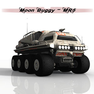 moon buggy 3d max