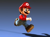 Mario Video Game Character Running