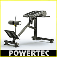 3d model of powertec p-hc10 dual hyperextension